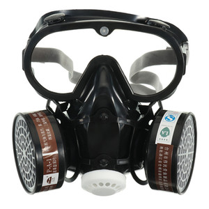 YENİ Maske Gaz Maskesi Emniyet Kimyasal Anti-Toz Filtresi Askeri Göz Gözlüğü Seti İşyeri Güvenliği Koruma Maskesi