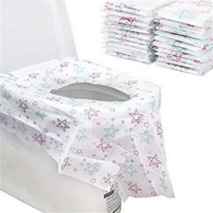 Pratique toilettes à usage unique papier Star Printing Nonwoven Potty Protecteur imperméable Seat Covers Tabouret Nuit Accueil Hôtel Bath Room 12 5cr E19