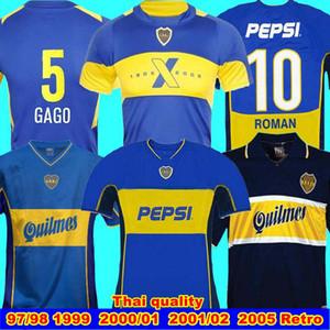 97 98 2002 Boca Juniors camiseta de fútbol retro Maradona ROMANO Caniggia 1999 00 PALERMO las camisas del fútbol Maillot Camiseta de Futbol 2001 02 2005