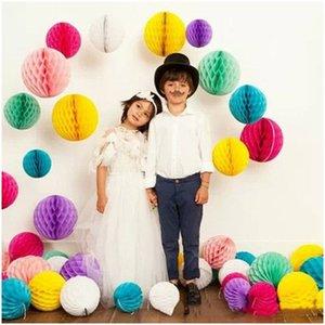 100pcs 20 centímetros Linman casamento de papel decorativa Pompoms Paper Balls Beehive lâmpada lanterna Partido Home Decor Tissue Flower Decoração do aniversário