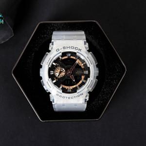 HOT toute nouvelle montre de couple bébé de qualité supérieure cadeau toutes les fonctions résistant à l'eau G montre de sport avec boîte de coeur pour les amoureux de fam