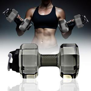2.2L bolso Dumbbell Forma Garrafa de água Gym Fitness Musculação Desporto Equipamento do exercício portátil Dumbbell mancuernas gimnasio