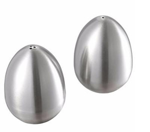 Яйцо Форма Приправа горшок из нержавеющей стали специй Jar солонка Переносные барбекю для пикника Инструменты EEA1412-5