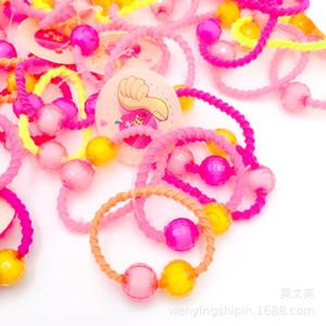 Nouveau imprimé floral cheveux Elastique Elastique Band cheveux couleurs assorties pour enfants Baby Girls Spesse Floral Imprimer Bobine DHL Sweet07