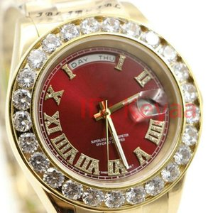 الماس والساعات A2813 الأزياء 18K رجل الرئيس اليوم- التاريخ الماس الرجال ووتش حركة تلقائية الياقوت المعصم الميكانيكية