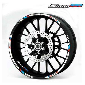 Per decalcomanie ruote BMW S1000RR del motociclo adesivi riflettenti rim strisce # 4 di colore