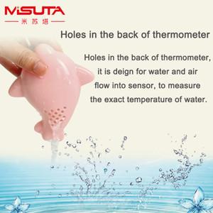 Medidor de Temperatura del cuarto de baño del bebé del agua de la ducha de baño Termómetro cartón juguete Dolphin