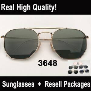 Óculos de sol 2019 novas chegadas do modelo 3648 homens mulheres óculos de sol des lunettes de soleil capa de couro de qualidade, vpackages, acessórios, veverything