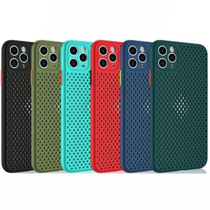 Maille souple TPU Dissipation thermique Phone pour iPhone 11 PRO MAX IPHONE XR X XS 6 8 7 Protection Camera Plus Cover