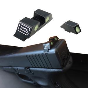 Karanlık Gece Görüntüleri Ön ve Gez Seti için G17, G19, G22, G23 içinde Taktik Av Tabanca Handgun Glow