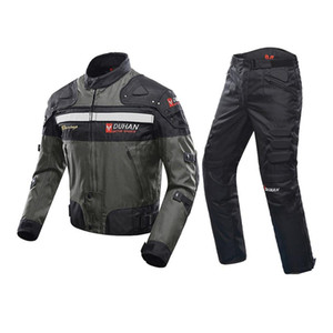 Windproof Motosiklet Yarışı Suit Koruyucu Dişli Zırh Motosiklet Ceket + Motosiklet Pantolon Kalça Koruyucu Moto Giyim Seti Boyut M-3XL