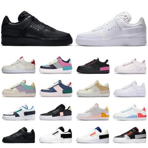 2020 nike air force 1 af1 supreme type shadow shoes scarpe da donna da uomo triple bianche Hyper Crimson Pale Ivory Cosmic Fuchsia da uomo sneaker sportive da skateboard
