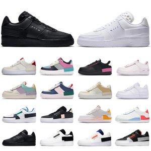 2020 nike air force 1 supreme af1 type shadow erkek kadın koşu ayakkabı üçlü beyaz Hiper Crimson Soluk Fildişi Kozmik Fuşya erkekler eğitmen kaykay spor sneakers
