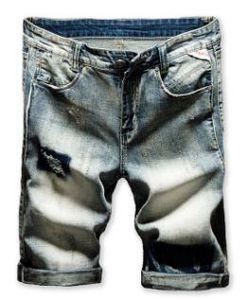 Nouveau Mens Haute Qualité Trou Heure D'été Élastique Coupe Ajustée Style Européen Et Américain Cinq Minutes De Pantalon