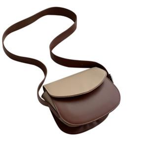 Saddle Pacote Feminino New Broadband Oblique Satchel Semicircunferência Pacote Retro Joker ombro único saco