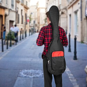 48 Inch Electric Bass Guitar Padded Gig Bag Black Individuality Wearproof Shoulder Straps Electric Guitar Bag Guitar Parts