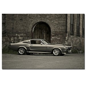 Retro Vintage Ford Mustang Shelby GT500 Muscle Car Poster Wall Painting Wall Art for Living Room Home Decor (No Frame)