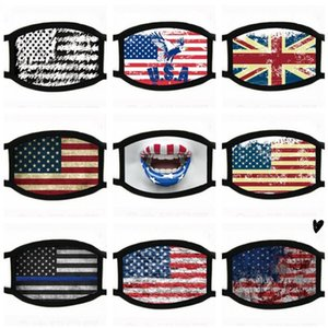 DHL Ship! Trump America Face Mask Cartoon Printed Reusable USA flag 3D leopard print Anti Dust Washable Outdoor Mouth Cover Designer Masks