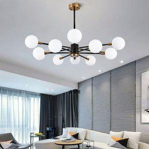 الحديثة الشمال المعطي رئيس غلوب الزجاج قلادة مصباح droplight الكرة الإضاءة مصباح أبيض أسود شنقا مصابيح لغرفة النوم الحية غرفة الطعام