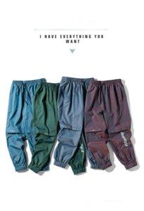 Moda Erkek Pantolon 2020 Yeni Yaz Trend Casual Harf Baskılı Gradyan Slacks Stil Gevşek-montaj, Ayak bağlı dokuz dakikalık Erkekler Pantolon