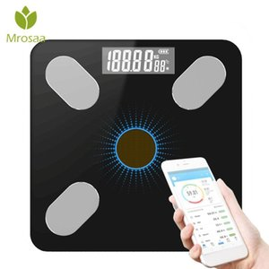 Bluetooth-Scale Bathroom Body Fat Scale LED Digital Electronic Floor Scales Body Weight Balance Health Care Light energy charge Y200106