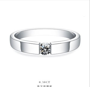 0.25Ct 4mm G-H Moissanite Engagement Ring for Women White Gold Color Solid 925 Sterling Silver Wedding Marriage Jewelry SH190927