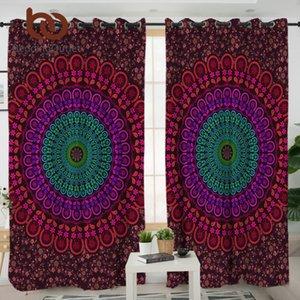 BeddingOutlet Mandala Гостиной Шторы Bohemian Boho Спальня занавес обработка окна портьера фиолетовой Домашнее украшение 1шт