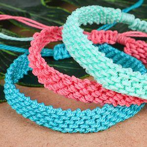 12pcs Bohemian Waterproof Wax Woven Rope Vsco Girl Bracelet for Women String Adjustable Lucky Rope Corn Knot Friendship Bracelets Jewelry