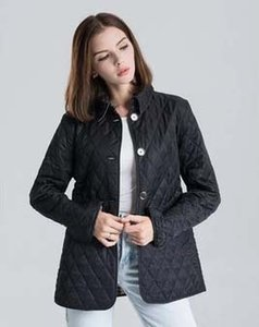 Hot Classic!women fashion england short thin cotton padded coat high quality brand designer jacket for women size S-XXL #19010