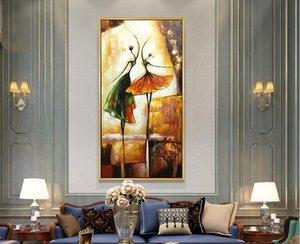New Decorative Art 100% Handmade pittura a olio Billy Elliot su tela Quadri dipinti a parete astratta moderna Soggiorno Decoracion