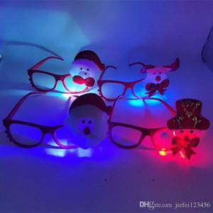 Noel sıcak satış ışık gözlük Noel çocuklar karikatür flaş gözlük yaratıcı küçük hediyeler çerçeve LED