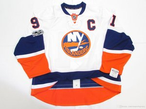 Cheap custom TAVARES NEW YORK ISLANDERS AWAY 100th ANNIVERSARY JERSEY stitch add any number any name Mens Hockey Jersey XS-5XL
