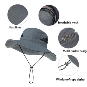 Fishing Cap Outdoor Boonie Shade Hat Summer UV Protection Sun Cap Boonie Fishing Camouflage Hat For Man