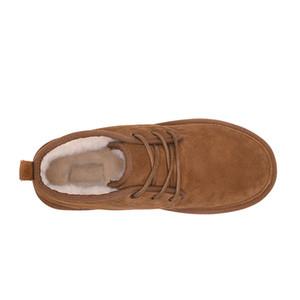 Venta caliente-OTS Neumel Suede Boots Botines clásicos de los hombres Newm Series Straps Casual Warm Mini Boot Chestnut Tamaño US35-US45