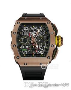 Caja de acero fino watch.316 mecánica hueco de lujo Rm11-03, caucho importado movement.Size mecánica strap.Fully automática de 49 x41x15mm