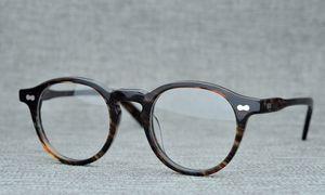 Spectacle Quadro Atacado-BeLight Optical Homens Itália Acetato redonda pequena Retro PrescEyeglasses Optical Vintage Eyewear MILTZEN
