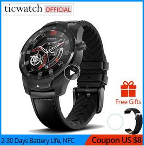 2020 оригинальный Ticwatch Pro Bluetooth Smart Watch IP68 Водонепроницаемый поддержка NFC платежей / Google Assistant Wear OS by Google GPS Watch