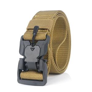 Nylon Magnetic Dedução Buckle Tactical Belt Outside The tático de nylon Belt Outdoor Training Belt Esporte