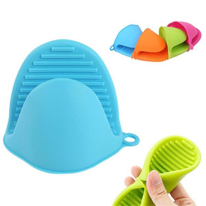 Microwave Oven Anti-Hot Silicone Heat Resistant Gloves Take Heat Clamp Bowl Clips Thicken Oven Mitts Kitchen Baking Tools