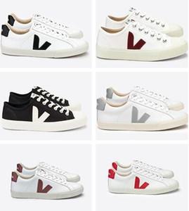 VEJA ESPLAR кроссовки из натуральной кожи ворсинок Дерма Повседневная обувь MensWomen Luxury Superstar Trainer 35