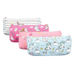Kawaii Cute Cartoon Unicorn Pencil Case Canvas Pencilcase Pencil Bag School Office Supplies Stationery Gift