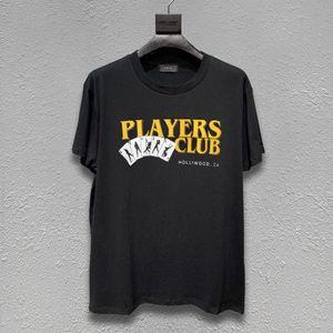 concepteur nouvelle marque AMIRI t-shirt rue marée impression européenne et à manches courtes américain loisirs poker AMIRI Amiri mendiant trou T-shirt