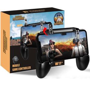 W11 + Mobile Gamepad Jogo Handle Mobile Phone Caso Shell Gamepad Titular Joystick fogo gatilho All in One para Celular