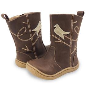 جديد الشتاء الأطفال أحذية جلدية بيرفوت أحذية أطفال أحذية الثلوج العلامة التجارية بنات بنين المطاط موضة أحذية Y18110304