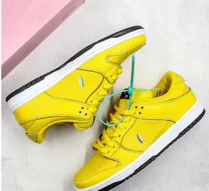 2019 Yeni Elmas Tedarik Co X SB Dunk Düşük Pro Koşu Ayakkabıları Erkekler Kadınlar için eğitmenler Açık Havada Koşu Sneakers Boyutu 36-45