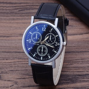 Belt Men's Glass Blue Explosive Watch Watch Men's Three-Eye Men's Gift Cartzo Ivgxu
