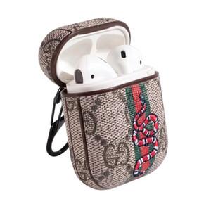 Pour 19SS AirPod cas de luxe Housse de protection Crochet Fermoir Keychain Anti Perdu marque de mode écouteur cas Protector Designer AirPod Case A06
