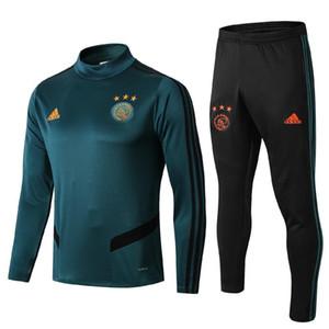 высокое качество новый 19 20 Аякс футбольные костюмы Huntelaar толстовки куртки футбол Джерси Кавани ветровка Ajax спортивный костюм
