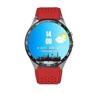 """KW88 GPS intelligent Montre moniteur de fréquence cardiaque étanche WIFI 3G LTE Appel Wristwatch Android MTK6580 1,39"""" Smart Bracelet pour Android iPhone Phone"""