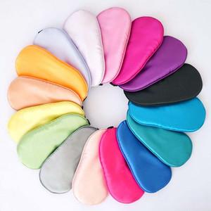 Nueva seda pura sueño Eye Mask Shade acolchada cubierta para transporte Relax Ayuda Venda de ojos de 12 colores calientes